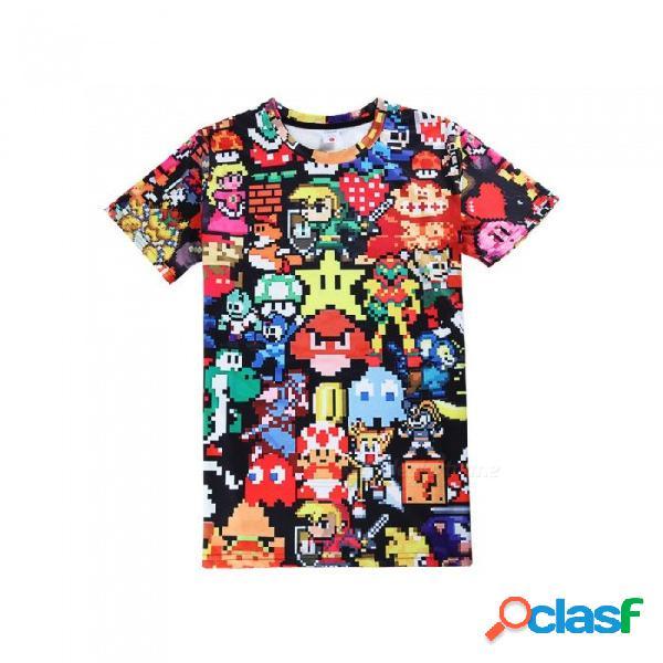 Dibujos animados y cómics animal elf hombres mujeres camisetas 3d impreso o-cuello casual casual manga corta camiseta