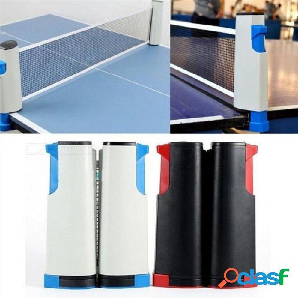 Mesa de tenis de mesa retráctil de plástico malla fuerte red portátil net kit de red rack reemplazar kit para jugar ping pong