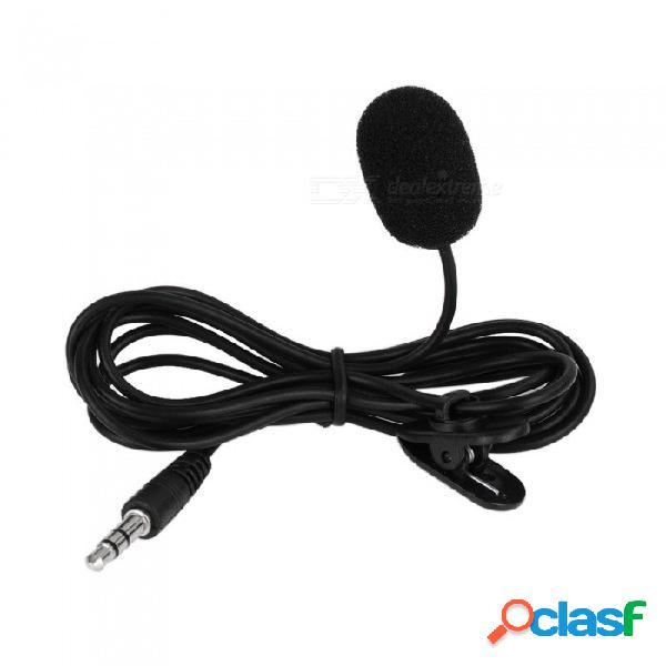 Microfono Profesional Lapela Clip Para Corbata Micrófono Lavalier Conector De Tornillo De 3,5 Mm Micrófono De Solapa Micrófono Para Cámara DSLR Sistema Inalámbrico UHF Negro