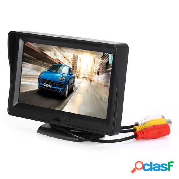 Monitor de visión trasera para automóvil kelima con luces de 4 leds pantalla de 4.3 pulgadas - negro