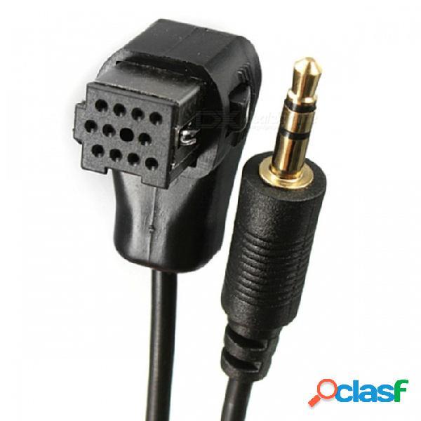 Radio de audio para automóvil qook de 3,5 mm para adaptador de cable de conector ip-bus, línea de conexión ai-net alpine para el teléfono iphone ipod huawei