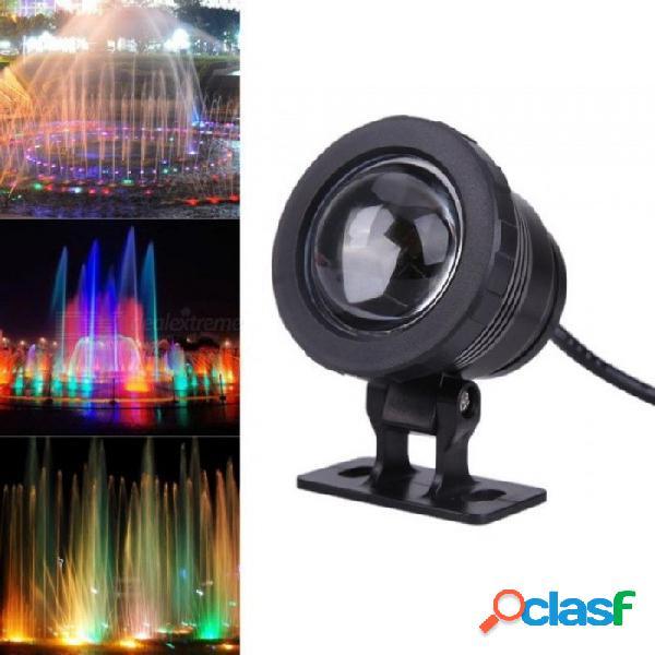 10w ac 12v rgb led luz de piscina ip65 a prueba de agua nadando bajo el agua lámpara estanque iluminación acuario tanque de peces luces led negro