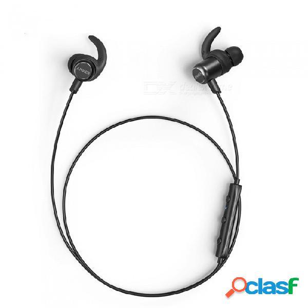 [actualizado] anker soundbuds slim + auriculares inalámbricos bluetooth 4.1 auriculares estéreo livianos aptx ipx5 auriculares deportivos a prueba de agua negro