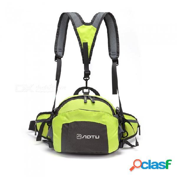 Aotu al aire libre de los hombres y de las mujeres bolsa de la cintura de la mochila multifuncional de los deportes al aire libre - hierba verde