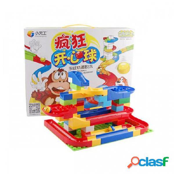 Divertido bricolaje coloridas bolas de construcción de pista de rodar bloques de construcción de juguete