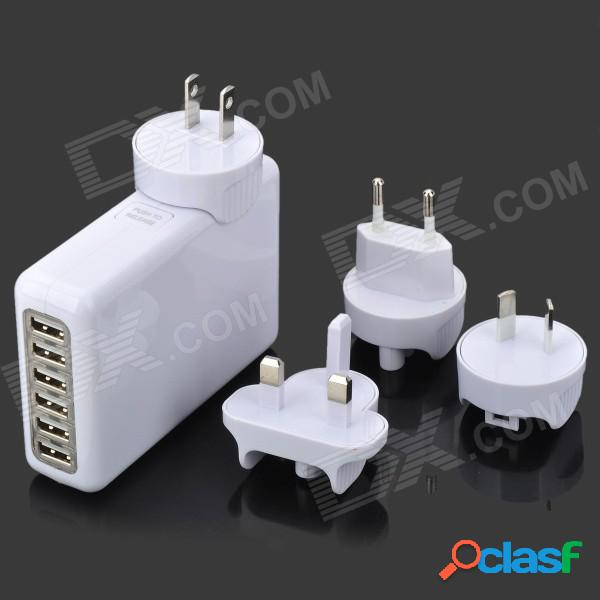 Adaptador universal de corriente alterna usb de 6 puertos + ee. uu. / reino unido / au / adaptadores de enchufe de la ue para iphone / ipad / ipod