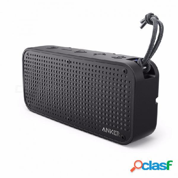 Anker soundcore sport altavoz portátil bluetooth xl, salida de audio 16w, 2 subwoofers, gama de bluetooth de 66 pies, tiempo de reproducción 15h, micrófono incorporado negro