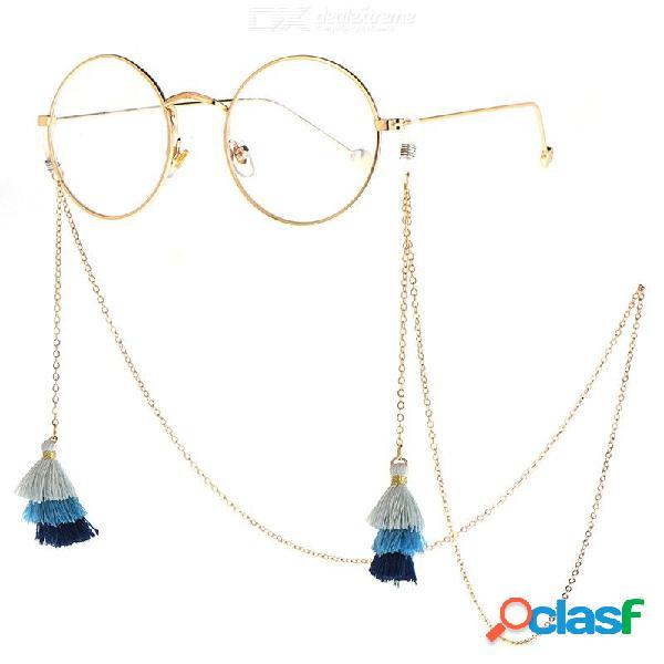 Cordón de la cadena de las gafas del cordón de las borlas de la correa del cordón de las gafas de sol de los 75cm para la lectura