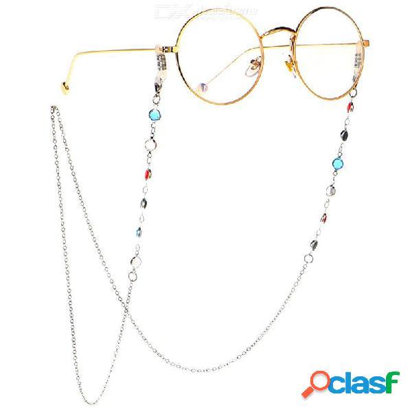 Cordón de la cadena del collar de la correa del cordón de las gafas de sol de los 75cm para la lectura