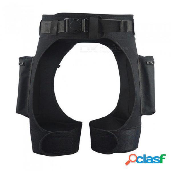 Neopreno 3mm tecnología pantalones cortos equipo de buceo dobles anillos en d bolsillo sumergible bolsillos para las piernas pantalones de gota vendaje pantalón para el tamaño de buceo encaja