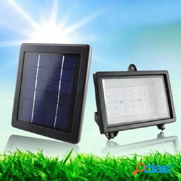 Proyector de luz solar para exteriores 40 led reflector lámpara impermeable para jardín piscina fuente proyector para césped hotel verde