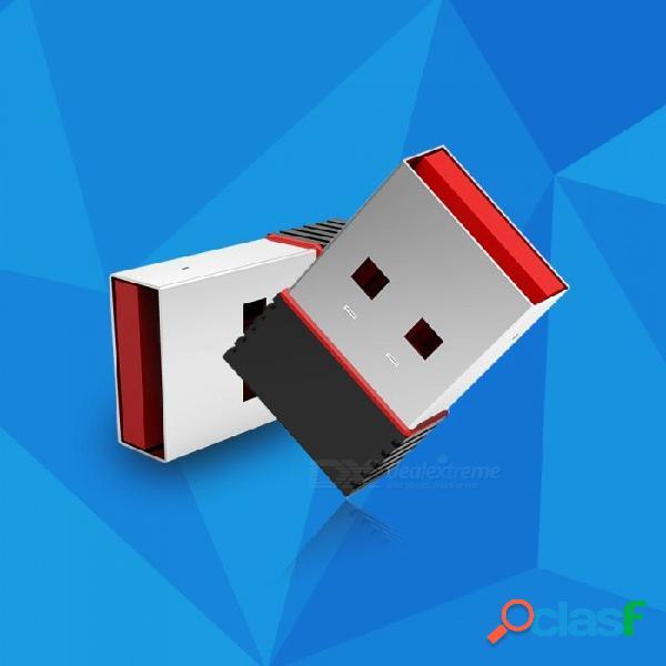 Ralink rt5370 150 mps adaptador inalámbrico 150 m usb 2.0 tarjeta de red inalámbrica wifi 802.11 b / g / n 2.4 ghz adaptador lan negro