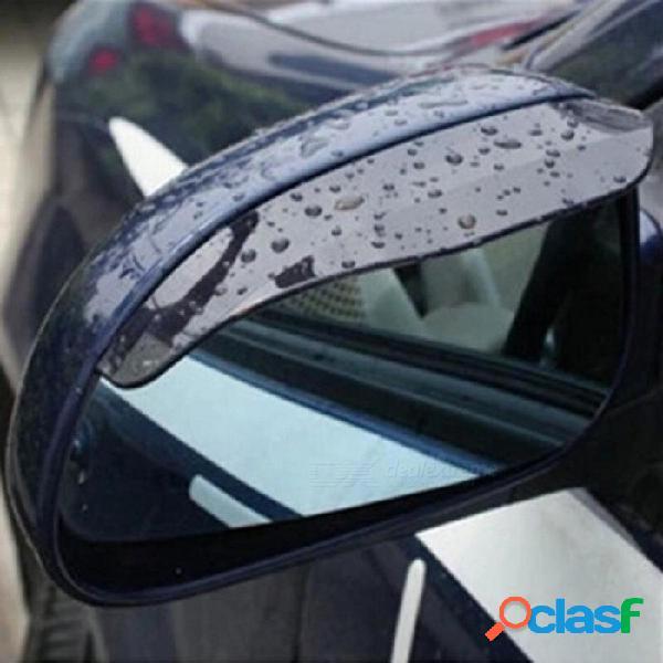 Retrovisor del coche espejo de la lluvia cuchillas retrovisor del coche cubierta de la lluvia de la ceja para el foco de ford 2 3 hyundai solaris mazda 2 3 6 x-5 1 par negro