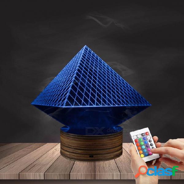 1 pieza egipto temática ilusión tridimensional alambres luces egipto faraón pirámide anubis tridimensional efecto de luz led luces de noche púrpura