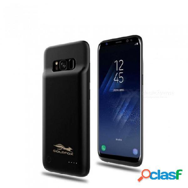 Samsung galaxy s8 cargador de batería externa carcasa de la caja 4000 mah recargable banco de la energía de la caja de carga del teléfono de carga de oro