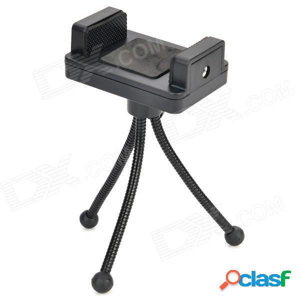 Ajustable trípode de cámara + holder + adaptador tornillo + largo set para gopro héroe 1/2/3/3 + - negro
