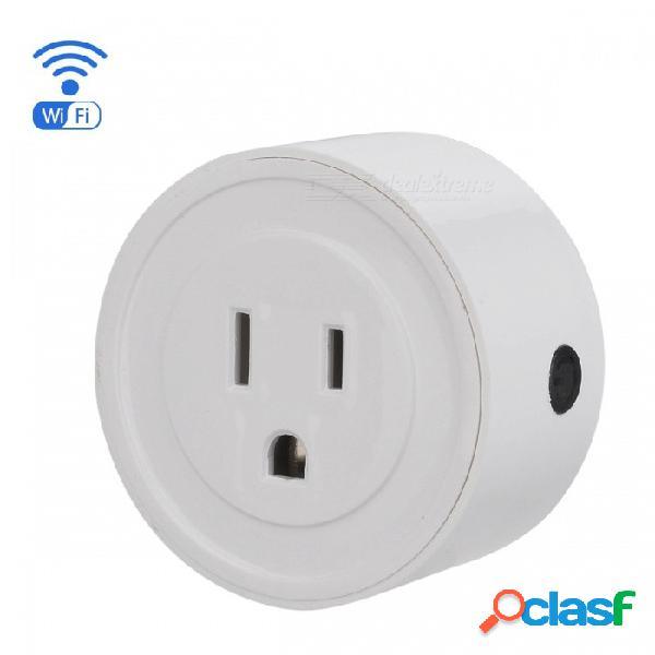Eastor v1 inteligente wi-fi mini zócalo app control remoto interruptor de tiempo, apoyo amazon alexa google home vocie control - blanco