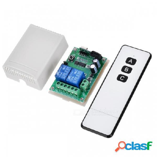 Kj-105-315mhz 12v mini interruptor de control remoto inalámbrico bidireccional para control de motor, puerta eléctrica, lámpara y ventanas