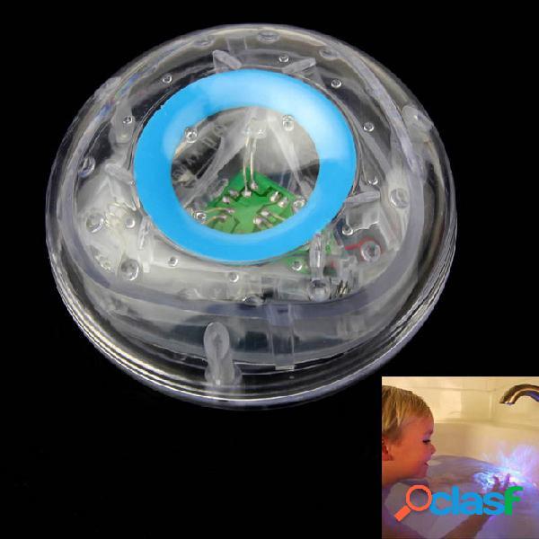 Los niños se bañan bajo el agua flash led colorido de juguete de la lámpara de la bañera del flotador - transparente + sky blue