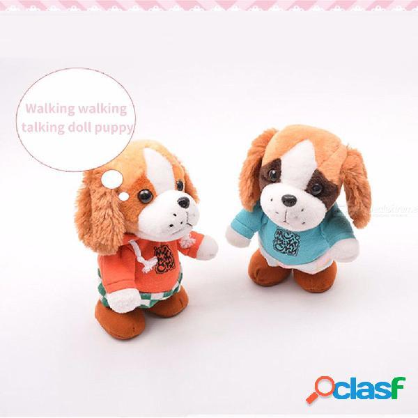 Niños juguetes de peluche de sonido para bebés electrónicos muñecas lindas grabadoras de sonido para perros regalo