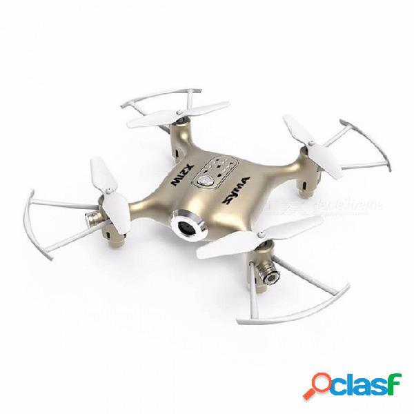 Original syma x21w wi-fi fpv 4ch 6-aixs rc quadcopter juguete rtf drone con giroscopio, modo de retención de altitud, 1 mega tarjeta de memoria de oro