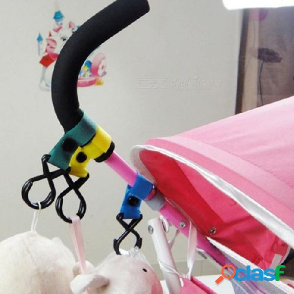 Plástico palo mágico cochecito de bebé accesorios gancho cochecito silla colgador colgante bebé carro de carro gancho color aleatorio negro
