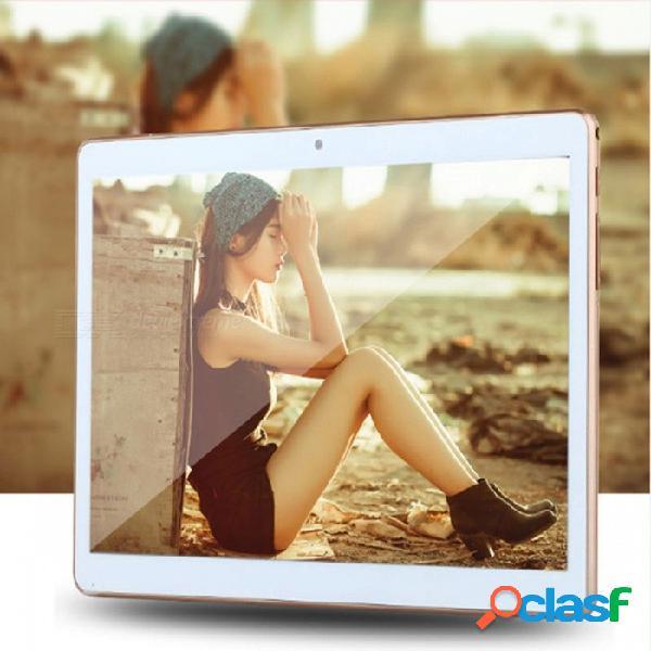10 pulgadas android 6.0 tablet pc 2gb ram incorporada llamada de teléfono 3g tarjeta sim mtk6580 tablet quad core gold / estándar