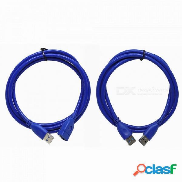 150 Cm De Alta Velocidad 5 Gbps USB3.0 Macho A Macho + USB3.0 Macho A Hembra Cable Para Transmisión De Datos