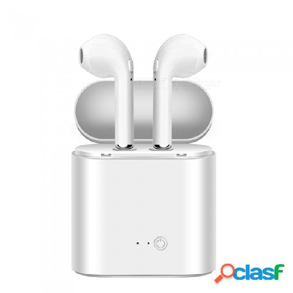 El auricular inalámbrico bluetooth dual cwxuan combina un auricular estéreo con una base de carga para el iphone iphone samsung xiaomi huawei