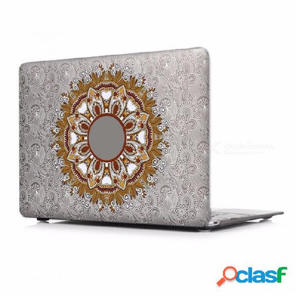 Elegante y exclusivo estampado floral con diseño de paisley, funda para laptop con barra táctil para apple mac macbook air pro 15 retina a1398 / p005