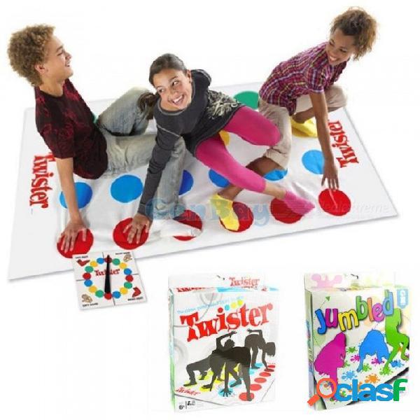 Juego de torsión de 160x110cm para 2-6 jugadores amigo de la familia clásica estera de juego torsión del cuerpo juguetes deportivos interactivos para niños tipo de punto
