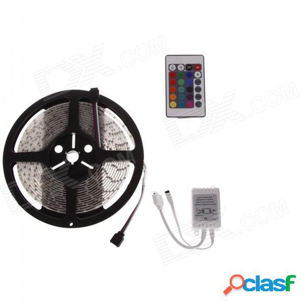 Li-ceci impermeable 500cm 23w 1500lm 300x3528 smd rgb tira de luz led con control remoto de 24 botones