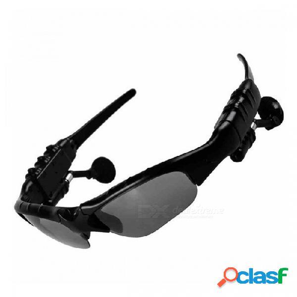 Deportes bluetooth inalámbricos estéreo auriculares auriculares auriculares montar gafas de sol para teléfonos móviles