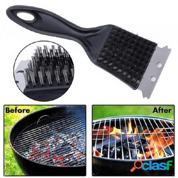 Parrilla de acero inoxidable barbacoa cepillo de limpieza barbacoa herramienta de cocina limpiador útil accesorios de barbacoa de vapor al aire libre en casa 1 unids