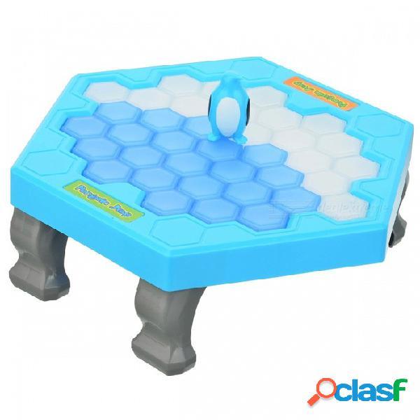 Break the ice puzzle juego de escritorio penguin knock ice building blocks interacción juguetes - blanco + azul