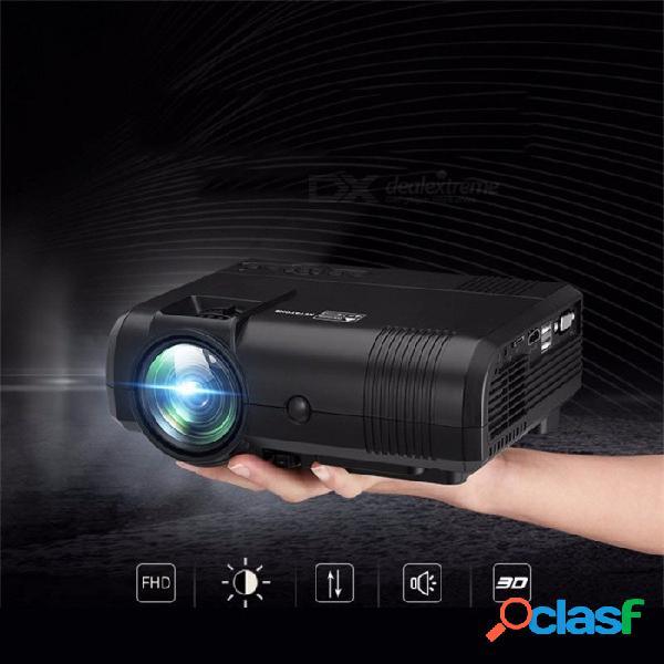 L8 nuevo proyector de home cinema para teléfono móvil usb 1000 lúmenes mini led proyector portátil full hd black