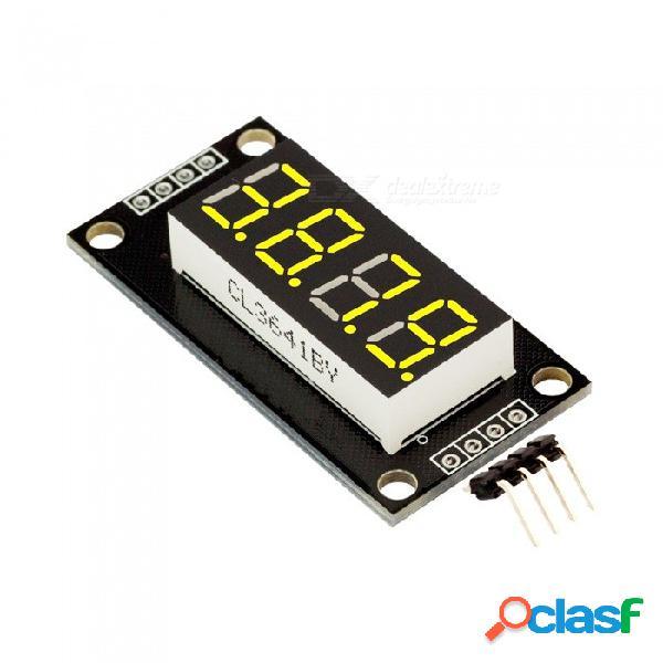 """Produino 0.36"""" tubo de pantalla led de 4 dígitos (decimal) 7 segmentos amarillo tm1637 disp para arduino"""