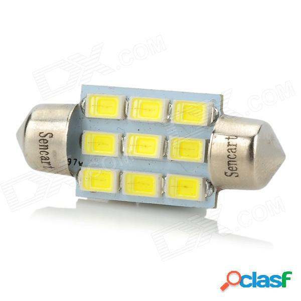 Sencart 36mm 2.8w 140lm 6500k 9-smd 5730 led placa blanca del coche / leyendo / luz de techo (9 ~ 36v)