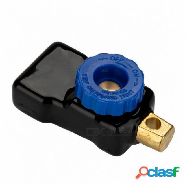 Interruptor de batería de automóvil jtron 60a con caja de pvc interruptor de corte automotriz - azul
