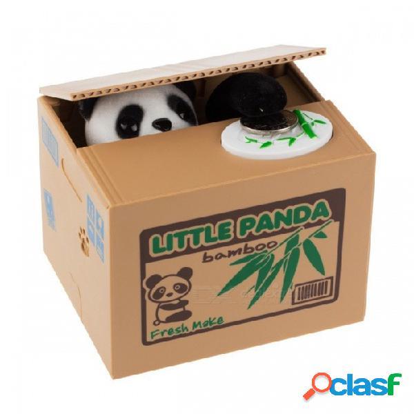 Ola panda ladrón cajas de dinero juguete huchas regalo niños cajas de dinero robó automáticamente moneda hucha caja de dinero caja de dinero como muestra