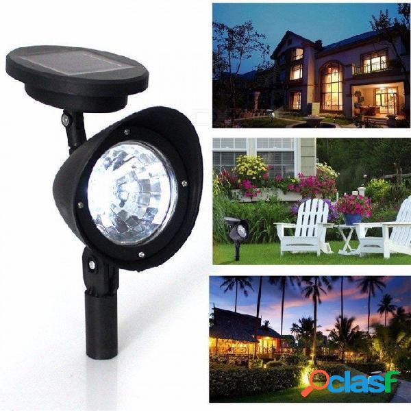 1 unid 3 led luz solar jardín hogar lámparas de césped accionado solar patio césped foco luz de la noche la luz de tierra caliente blanco / 0-5 w