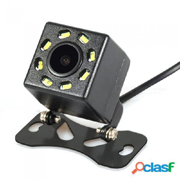 Asistencia de estacionamiento con vista trasera impermeable para el automóvil, cámara de respaldo con ángulo de visión amplio con visión nocturna rca 8-led