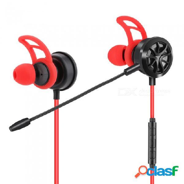 Auriculares para juegos de pc auriculares estéreo in-ear auriculares auriculares bajos con auriculares con cancelación de ruido para el ordenador portátil del teléfono celular