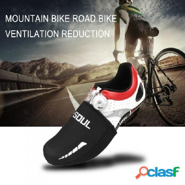 Ciclismo al aire libre ciclismo calzado deportivo cubierta térmica transpirable bicicleta de montaña impermeable elástico abrigos protector protector negro / talla única