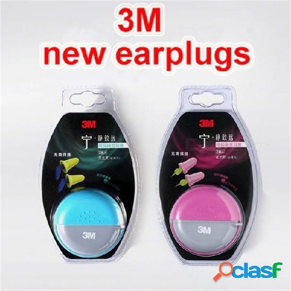 3m nuevos tapones para los oídos tipo de tapón recto sin necesidad de ajuste silenciado a prueba de ruido tapones para los oídos multiusos color aleatorio