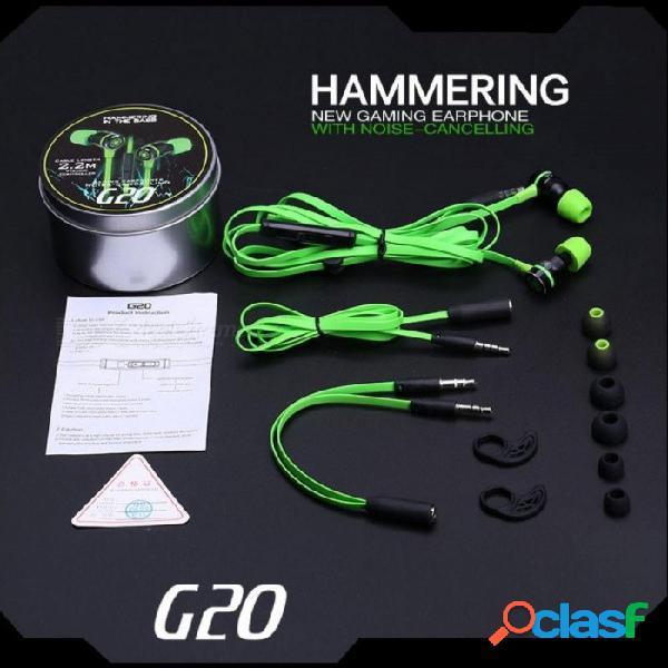 Hammerhead g20 auriculares con micrófono en la oreja del juego auriculares auriculares manos libres teléfonos estéreo comparación razer hammerhead v2 pro rojo