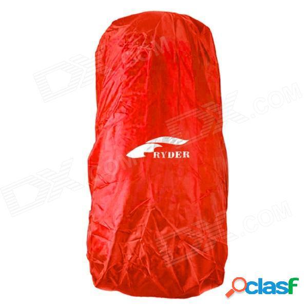 Ryder deporte al aire libre impermeable cubierta de lluvia de nylon oxford para mochila - rojo (50 ~ 70l)