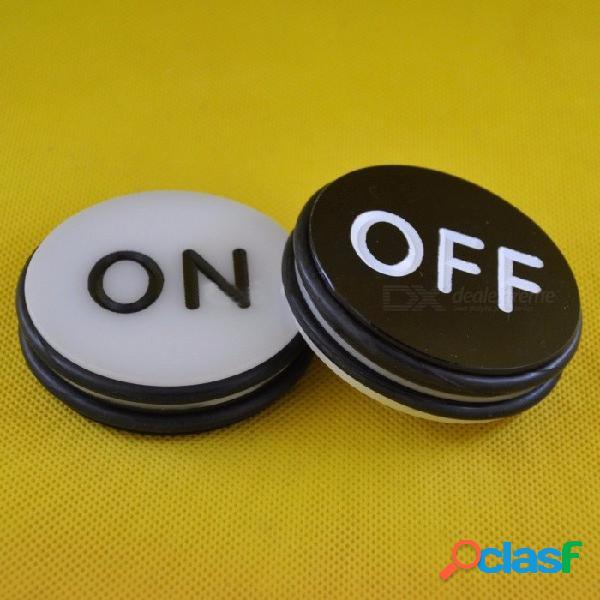 Ta-014 craps on / off puck - accesorios de juegos de casino para juegos de mesa en el hogar, acrílico, 71 mm de diámetro negro