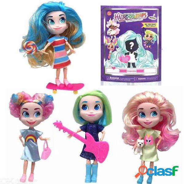 Colección sorpresa hairdorables muñecas divertido arco iris juguetes de vinilo modelo para niñas - color al azar (18cm)