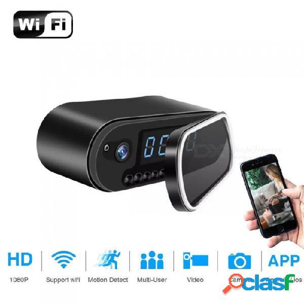 Esamact h.264 mesa reloj mini cámara 1080p hd ip p2p dvr videocámara alarma visión nocturna sensor de movimiento monitor remoto micro cam